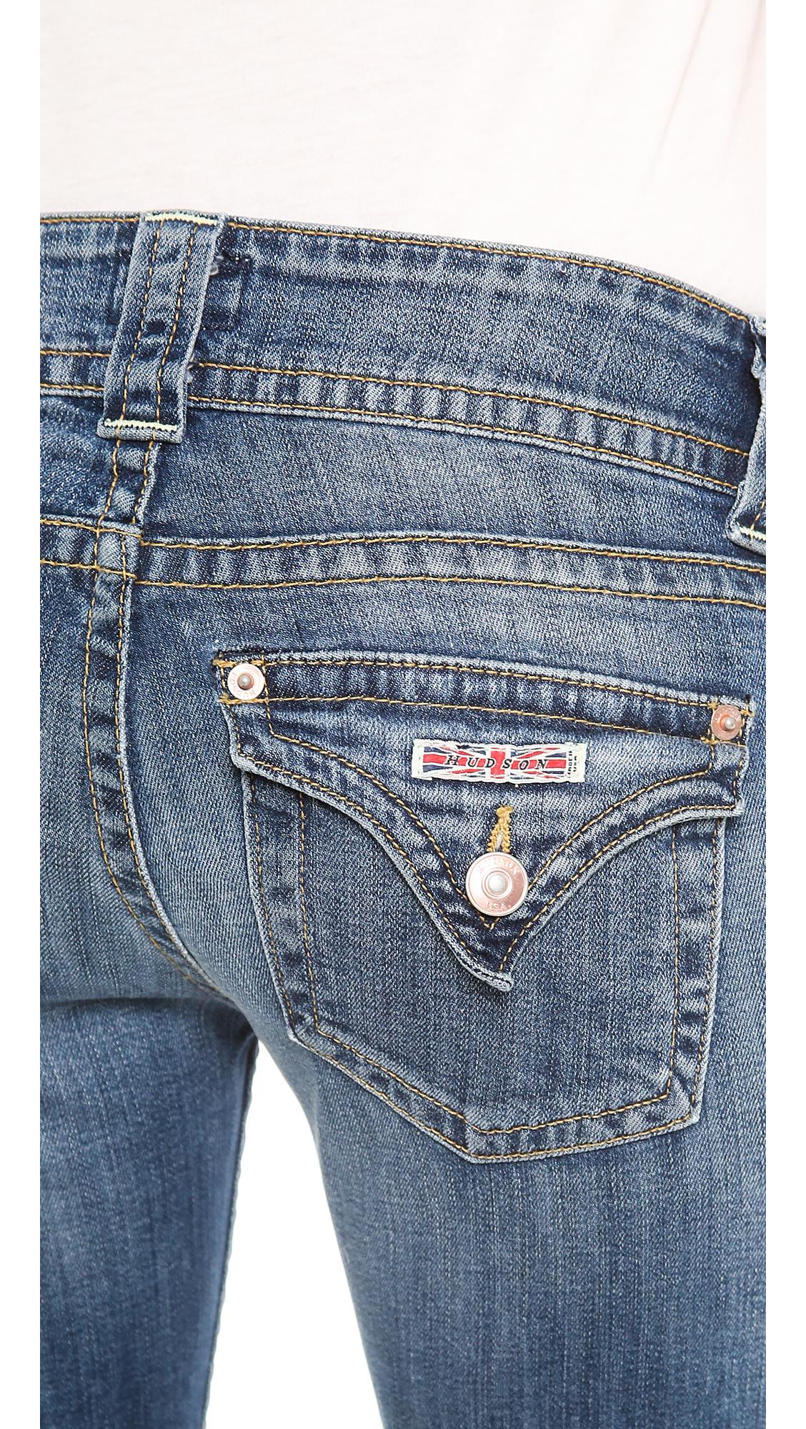 lyst hudson jeans signature bootcut jeans hackney in blue. Black Bedroom Furniture Sets. Home Design Ideas