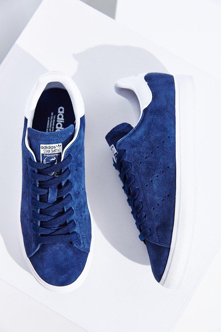 adidas originals stan smith vulc suede sneaker in blue lyst. Black Bedroom Furniture Sets. Home Design Ideas