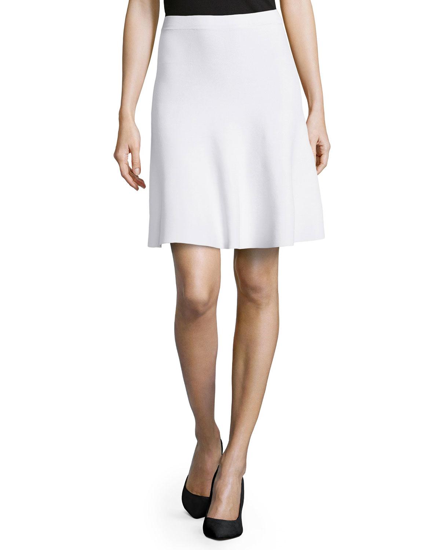 michael kors slight ruffle a line skirt in white lyst