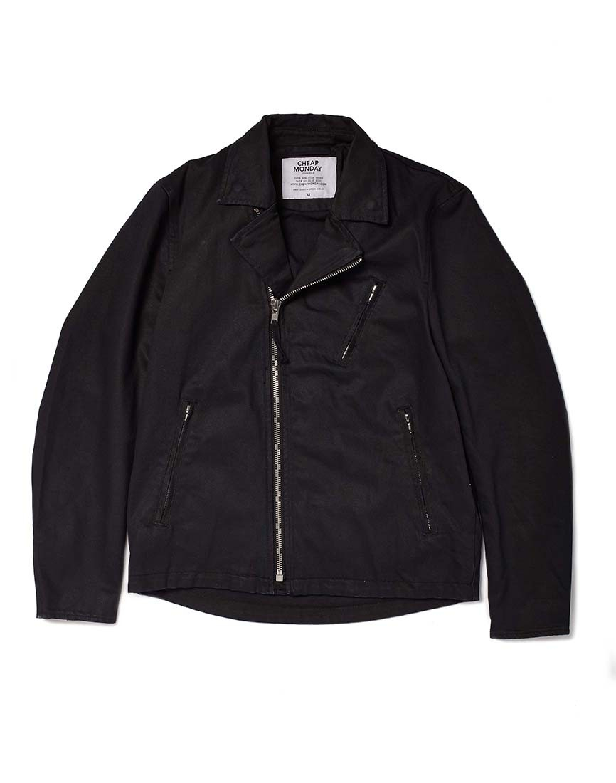Cheap monday Biker Jacket In Denim in Black for Men | Lyst