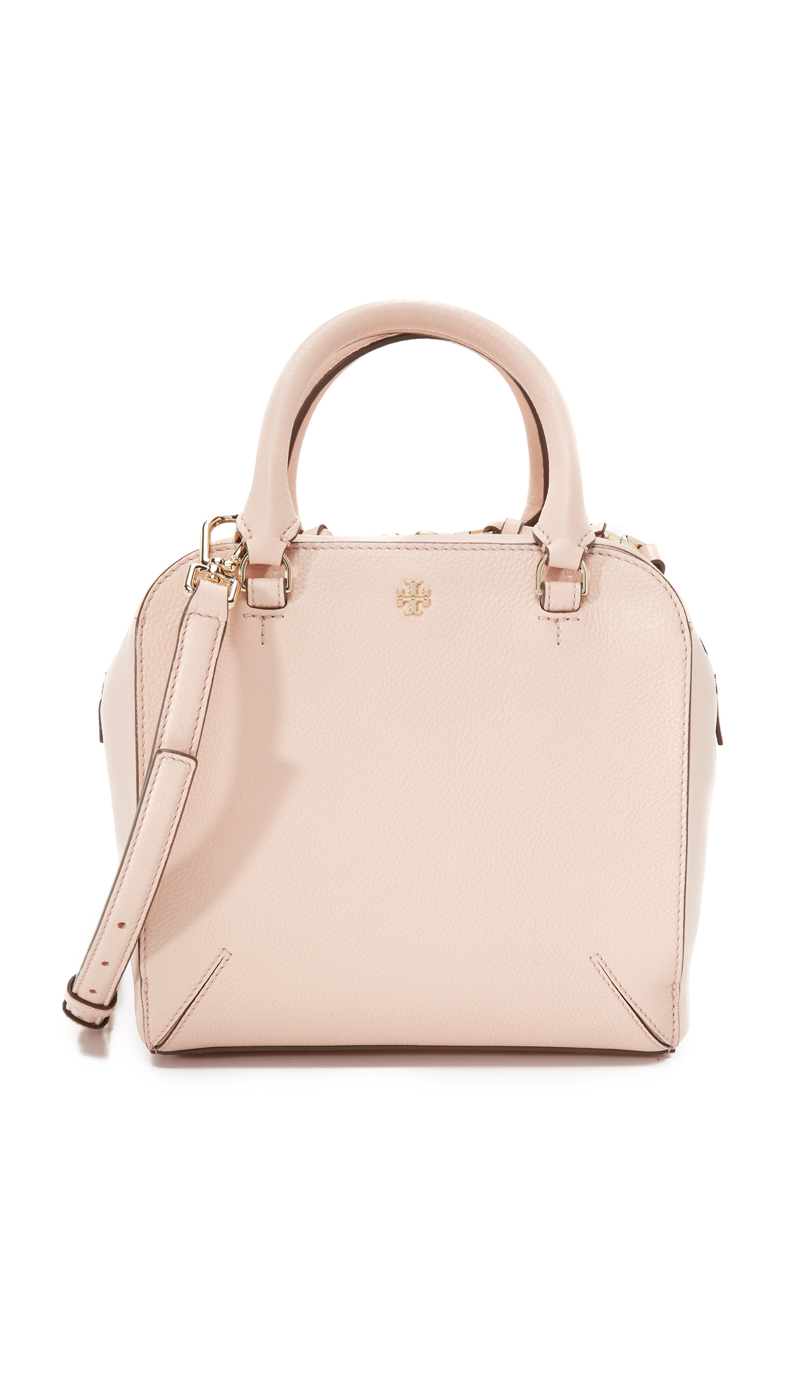 864fe486a7c Lyst - Tory Burch Robinson Pebbled Mini Satchel in Pink
