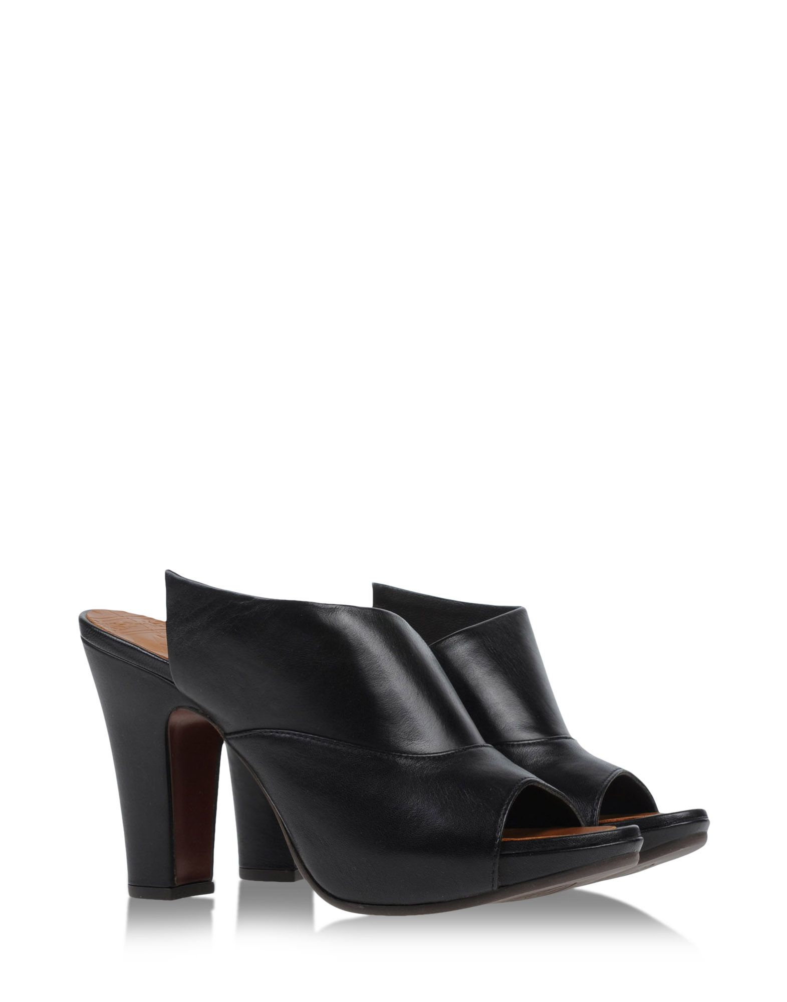chie mihara mules clogs in black lyst. Black Bedroom Furniture Sets. Home Design Ideas