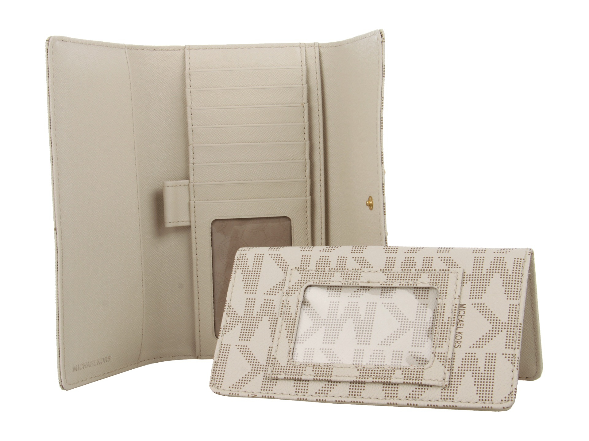 9a6f70a307382f MICHAEL Michael Kors Jet Set Checkbook Wallet in White - Lyst