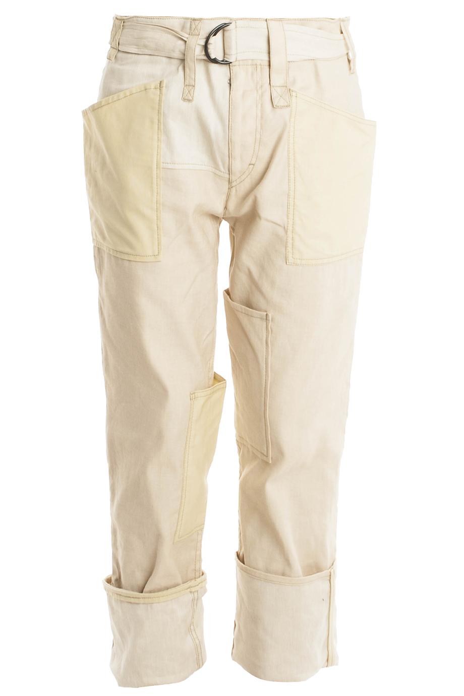 38046a6c17 Isabel Marant Vega Linen Trousers in White - Lyst
