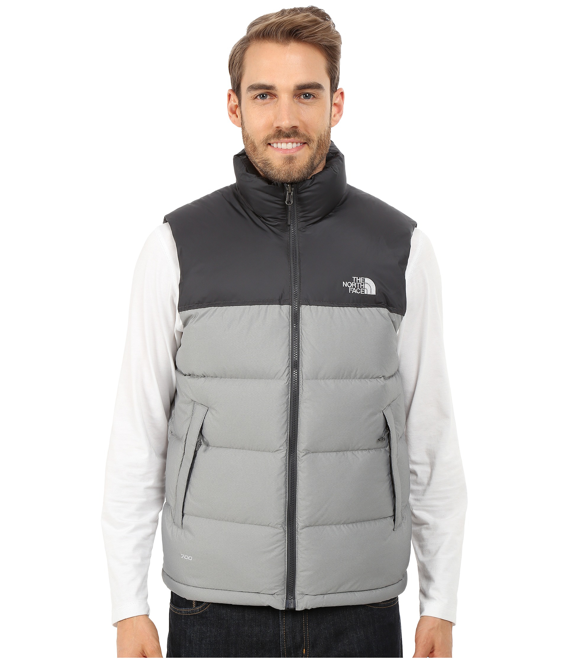 5ac235cafc france lyst the north face nuptse vest in gray for men 4357d 62457