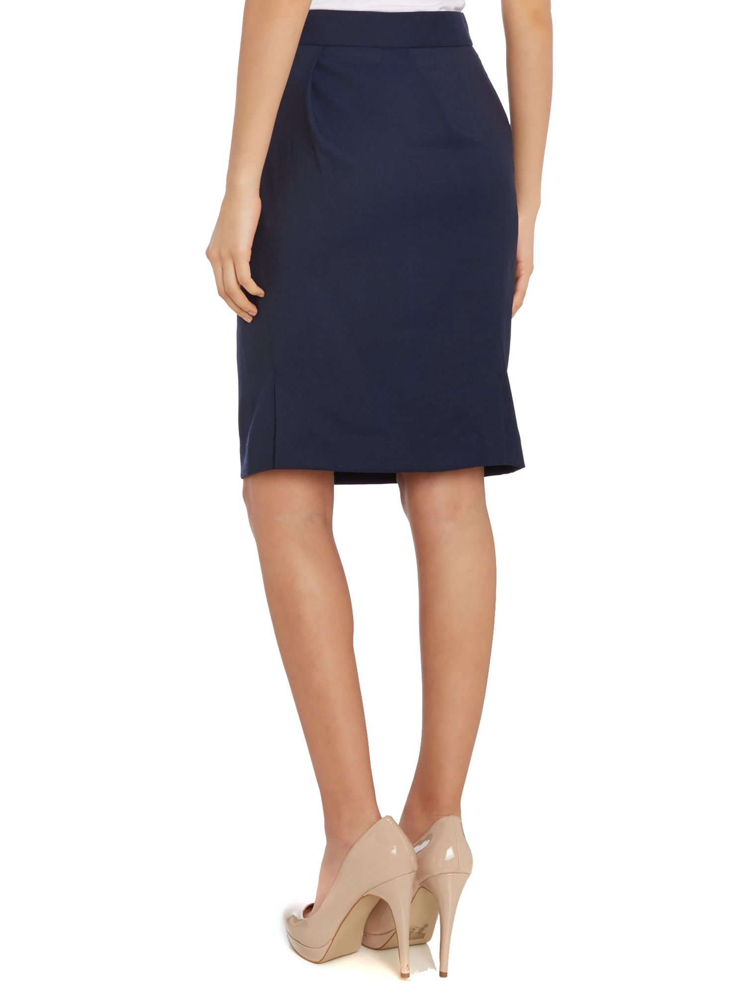 vivienne westwood anglomania pencil skirt in blue navy