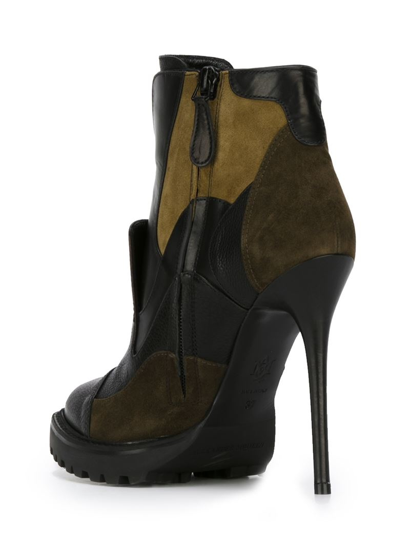 Louis Vuitton Made In France >> Alexander McQueen Patchwork Ankle Boots in Black - Lyst