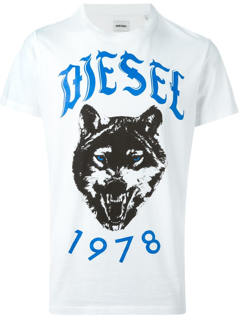 lyst diesel 39 t roff 39 t shirt in white for men. Black Bedroom Furniture Sets. Home Design Ideas
