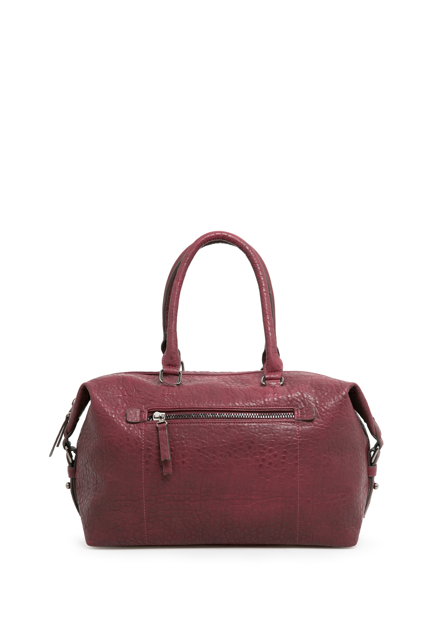 Mango Pebbled Weekend Bag in Red | Lyst