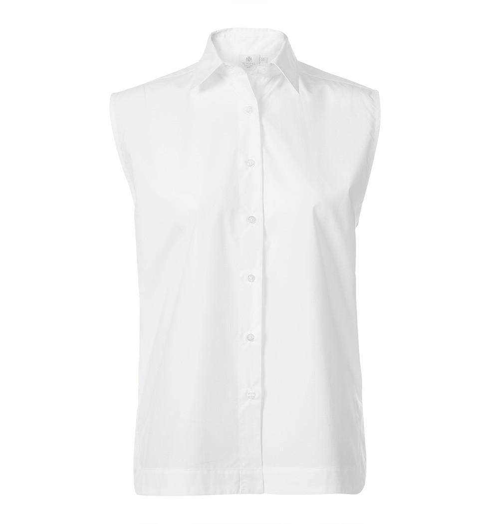 Sunspel Women S Long Staple Cotton Sleeveless Shirt In