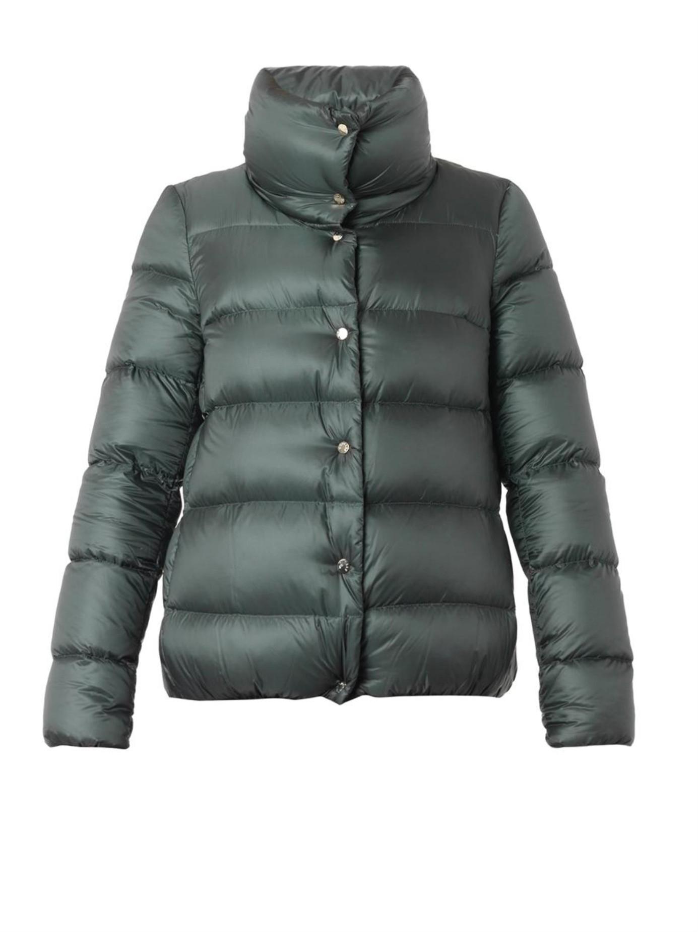 moncler green down jacket