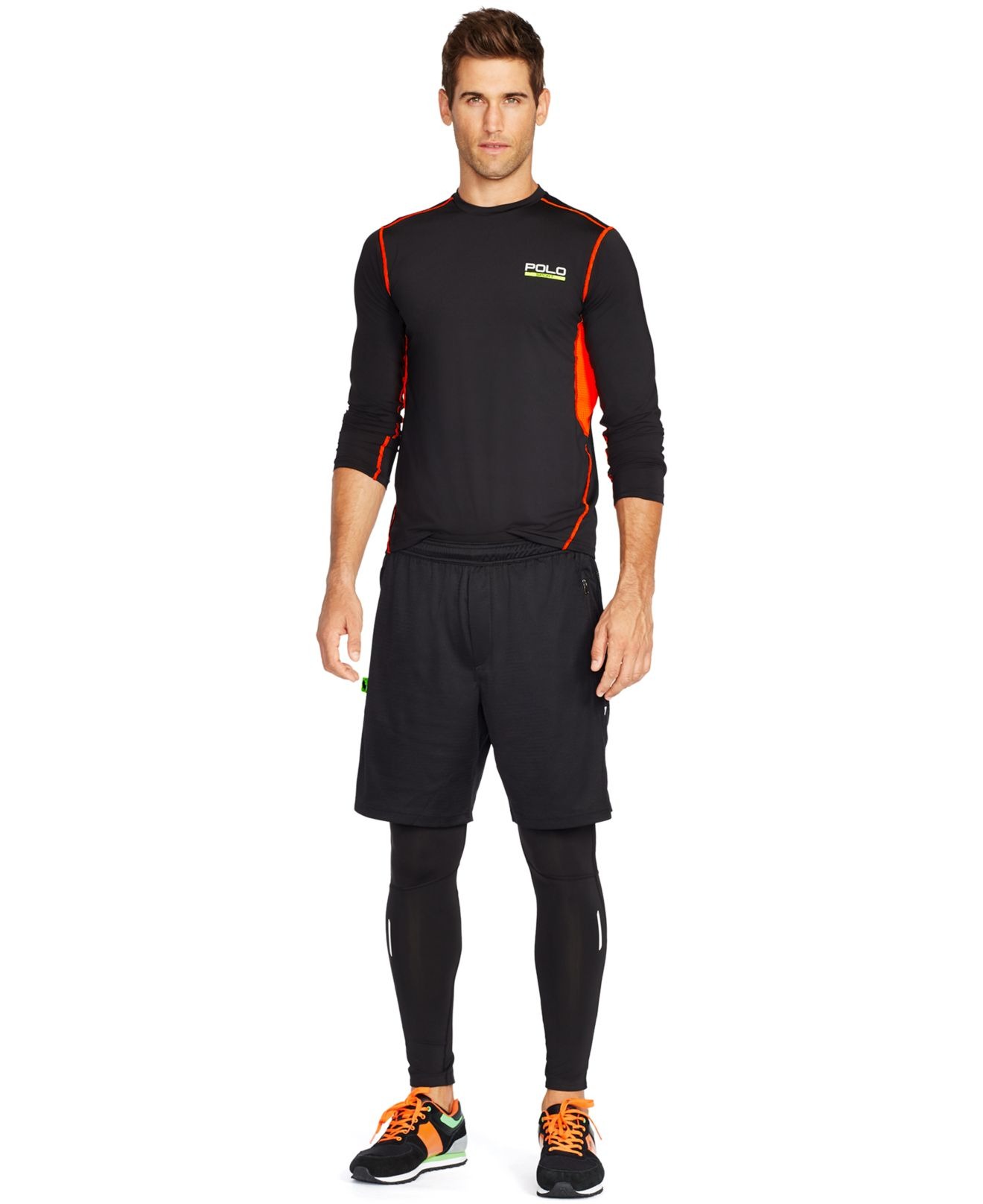 polo ralph lauren all sport compression training shirt in. Black Bedroom Furniture Sets. Home Design Ideas