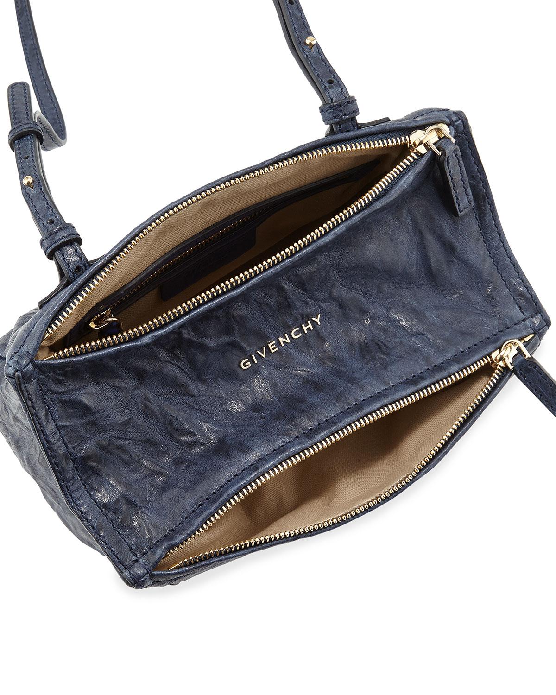 b51af3eb826 Givenchy Pandora Mini Leather Crossbody Bag in Blue - Lyst