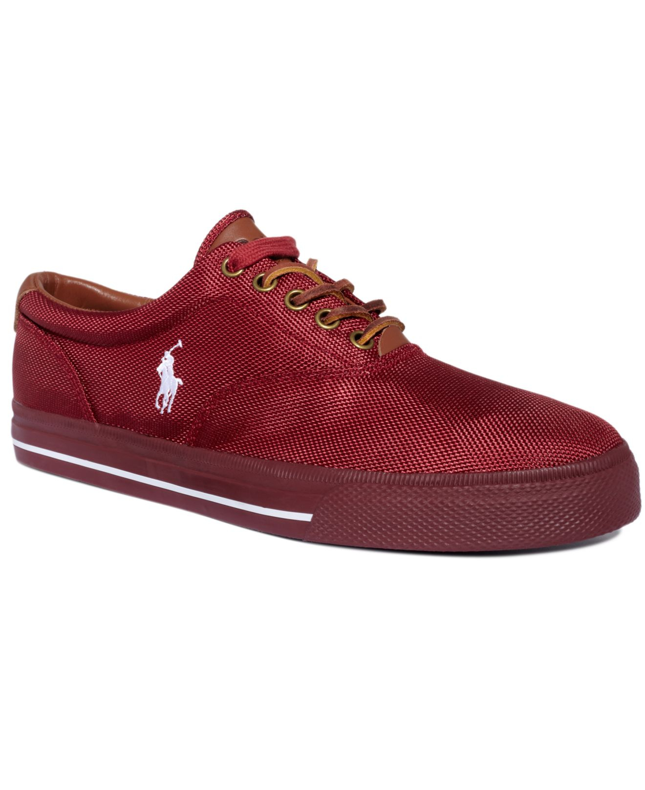 polo ralph lauren vaughn nylon sneakers in red for men lyst. Black Bedroom Furniture Sets. Home Design Ideas