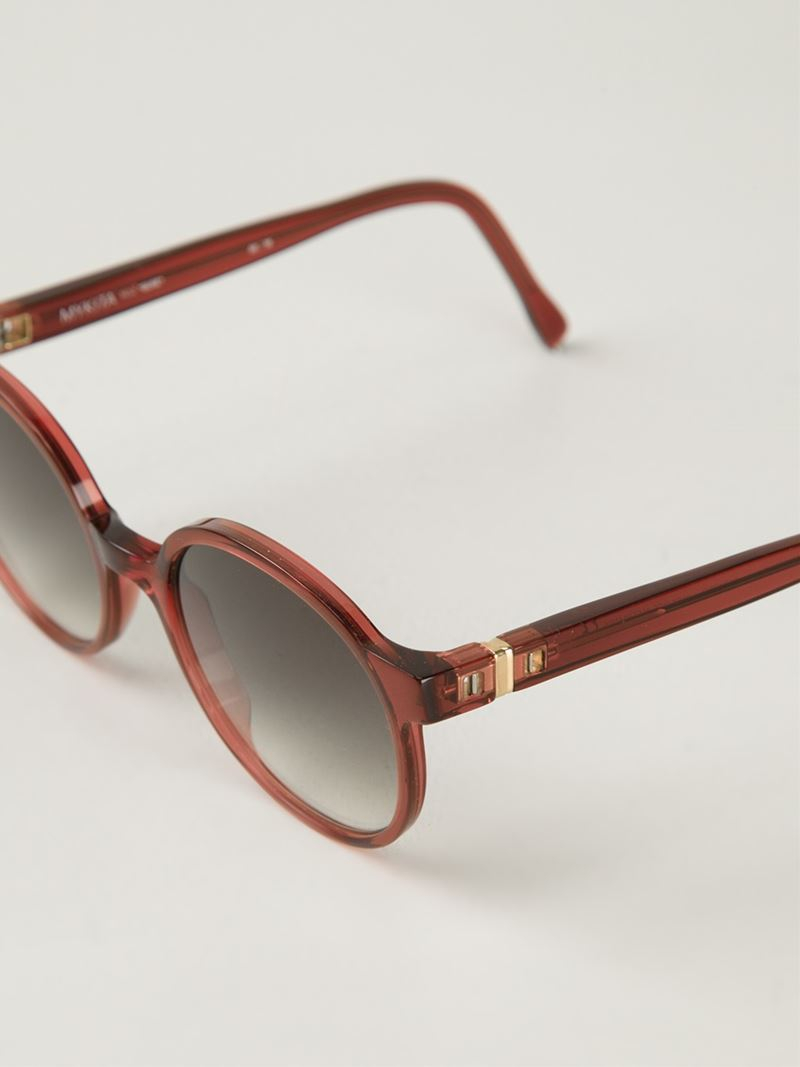 Mykita 'suse' Sunglasses in Pink & Purple (Pink)