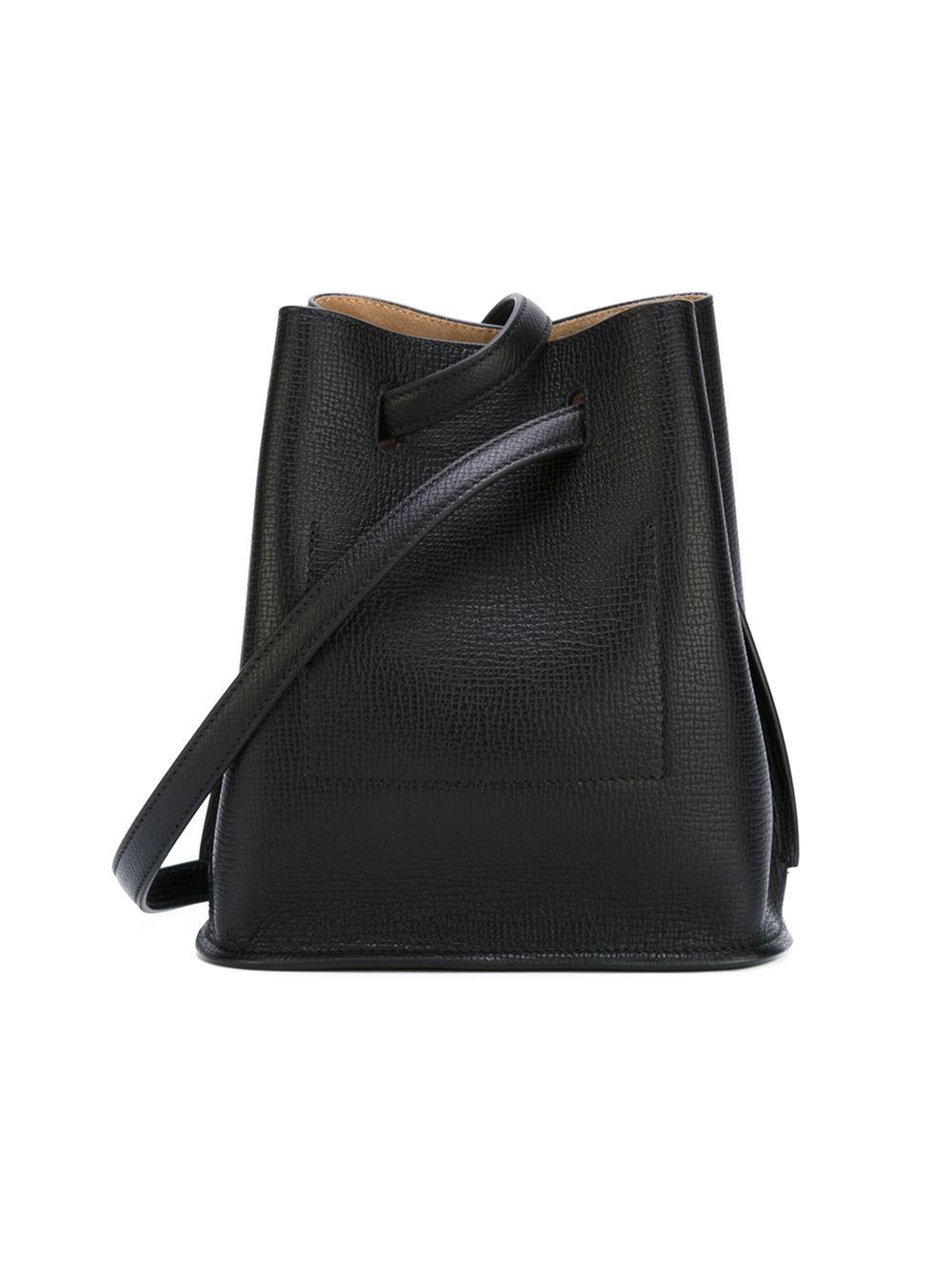 Jil Sander Bucket Shoulder Bag in Black