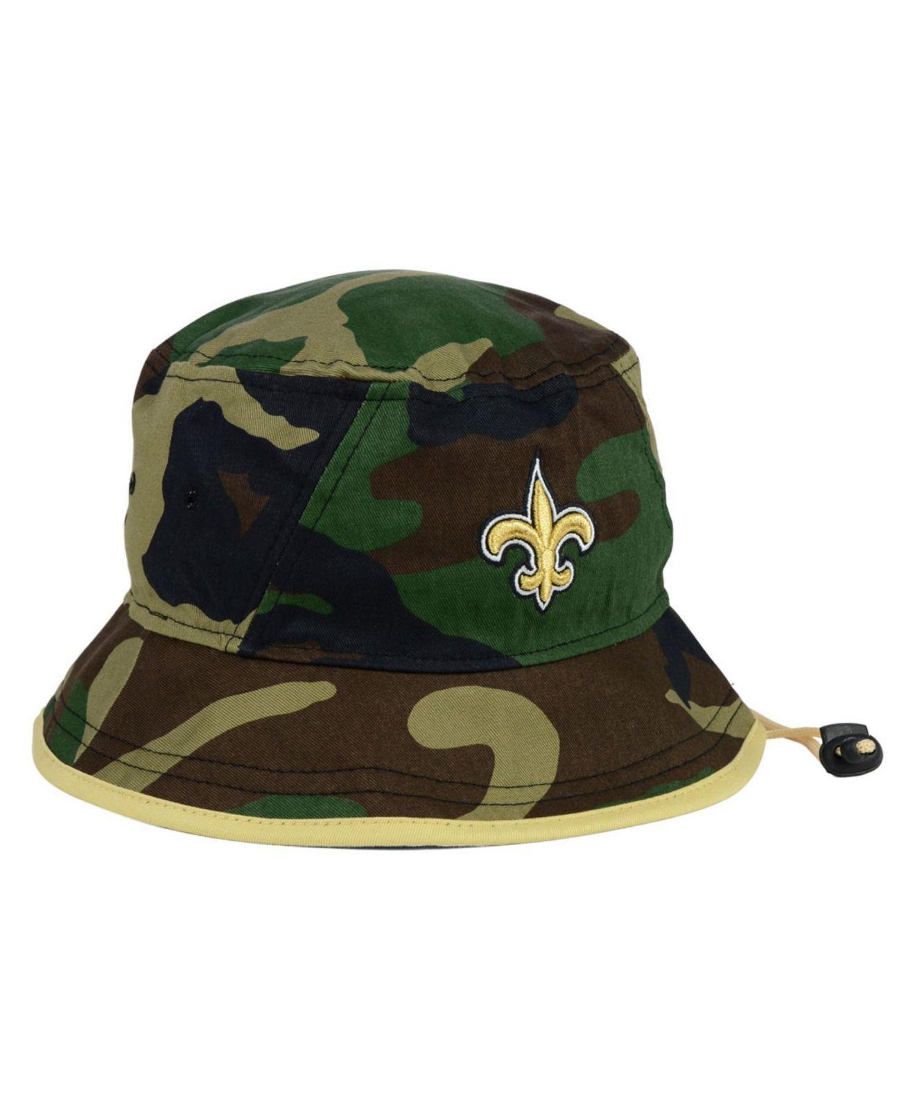 a40eabf7418 Lyst - KTZ New Orleans Saints Camo Pop Bucket Hat in Green for Men