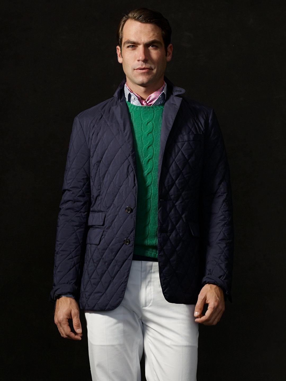 Lyst - Ralph lauren purple label Samson Quilted Sport Coat in Blue ... : mens quilted sport coat - Adamdwight.com