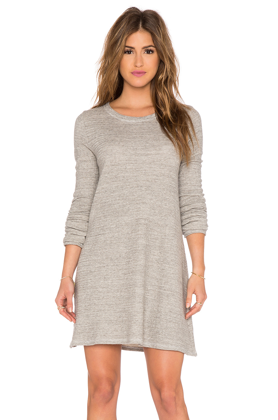 Cp shades Mercedes Sweater Tunic Dress in Gray | Lyst