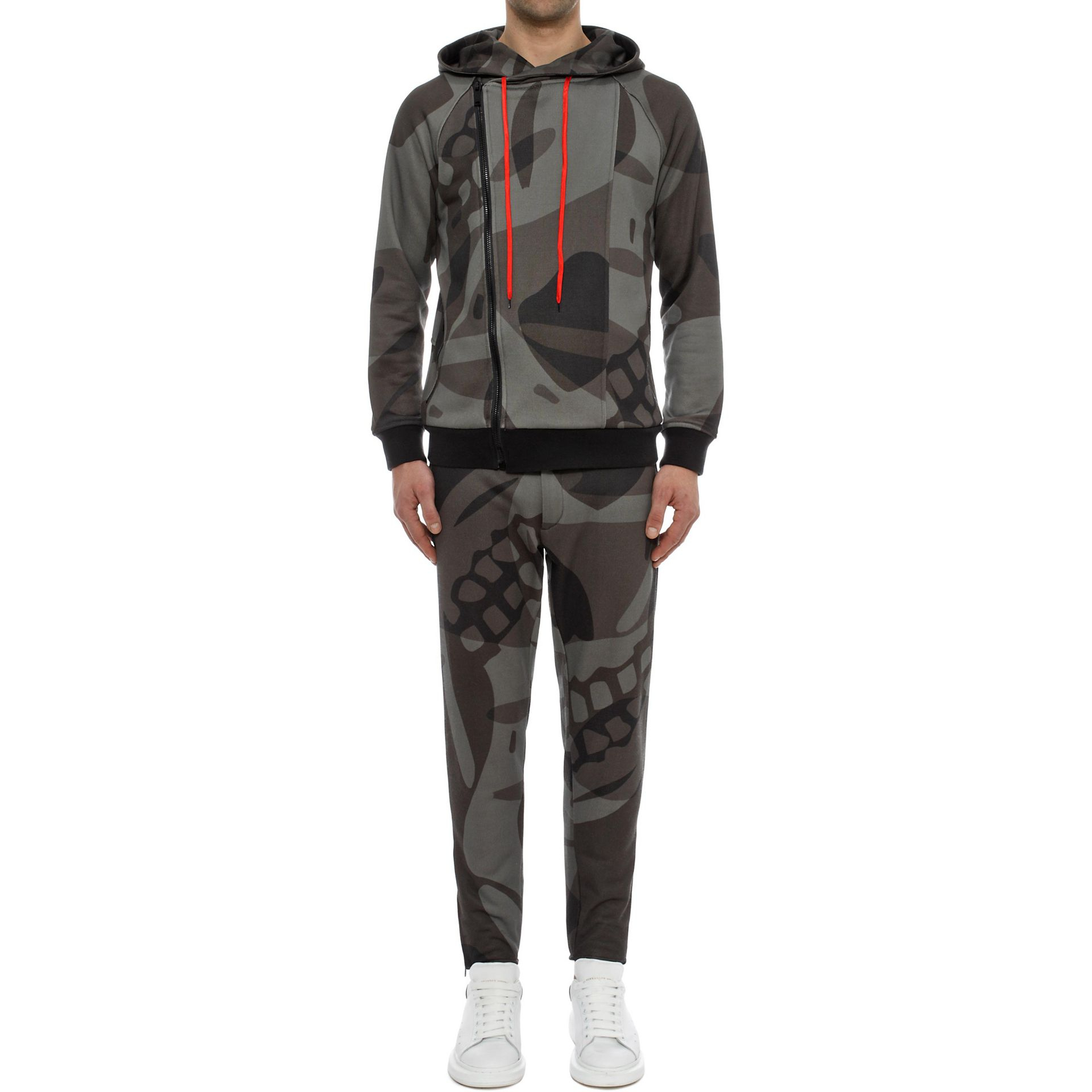 Alexander McQueen Skull Print Sweatshirt Trousers in Graphite/Light Grey (Grey) for Men