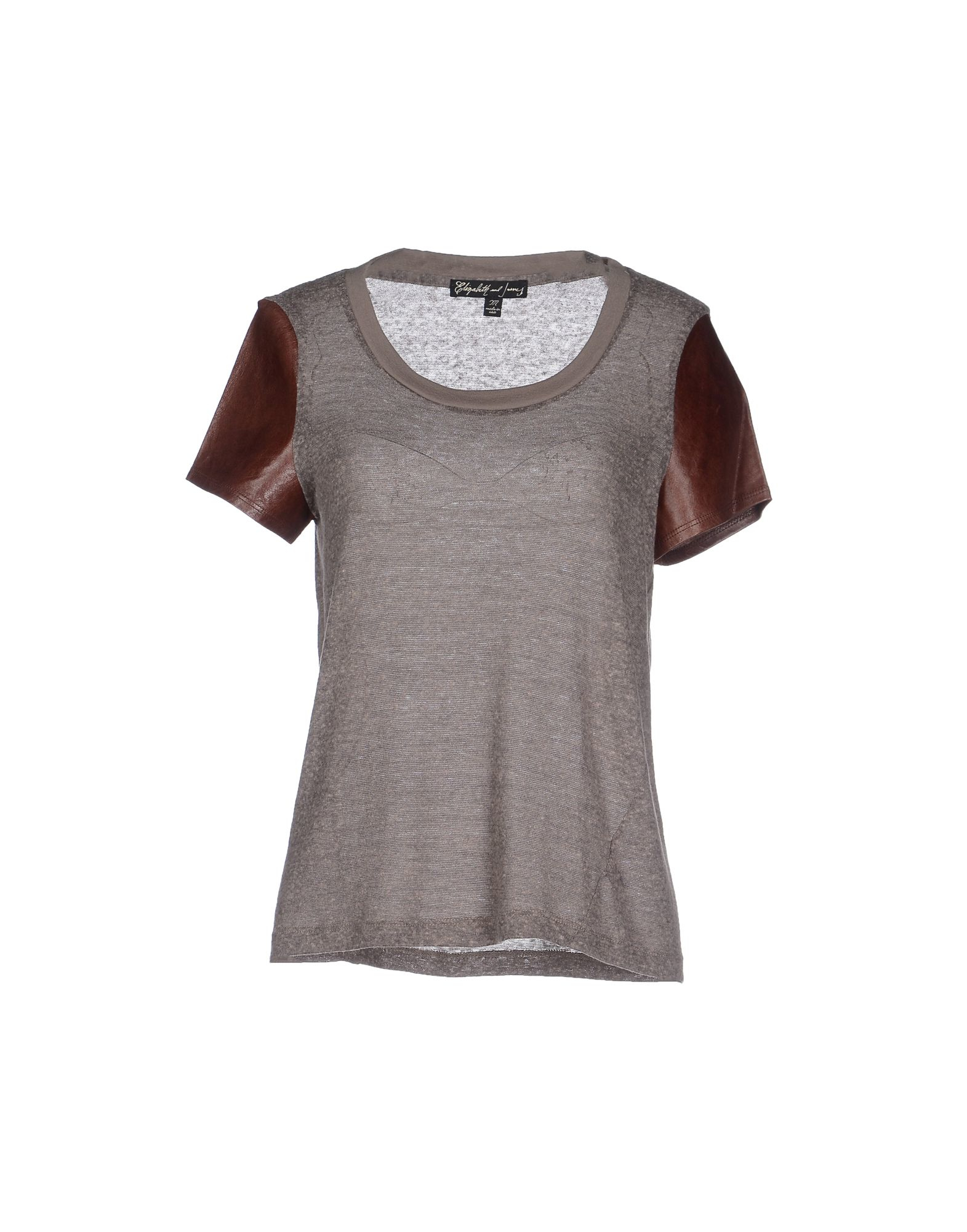 elizabeth and james t shirt in gray grey lyst
