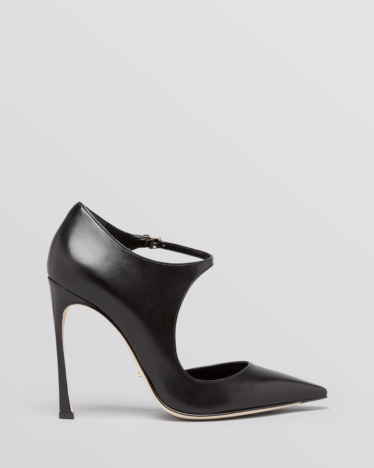 Lyst - Sergio Rossi Pointed Toe Ankle Strap Pumps - Sherazade Mary ...