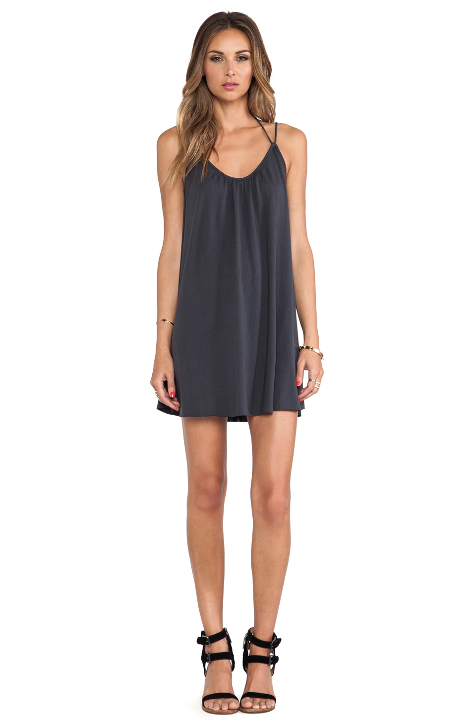 Rvca black leaf dress