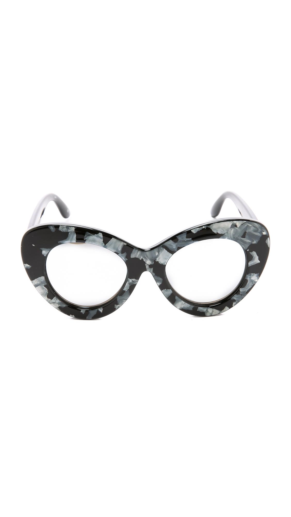 Le Specs Go Go Go Sunglasses - Black Marble/silver Revo
