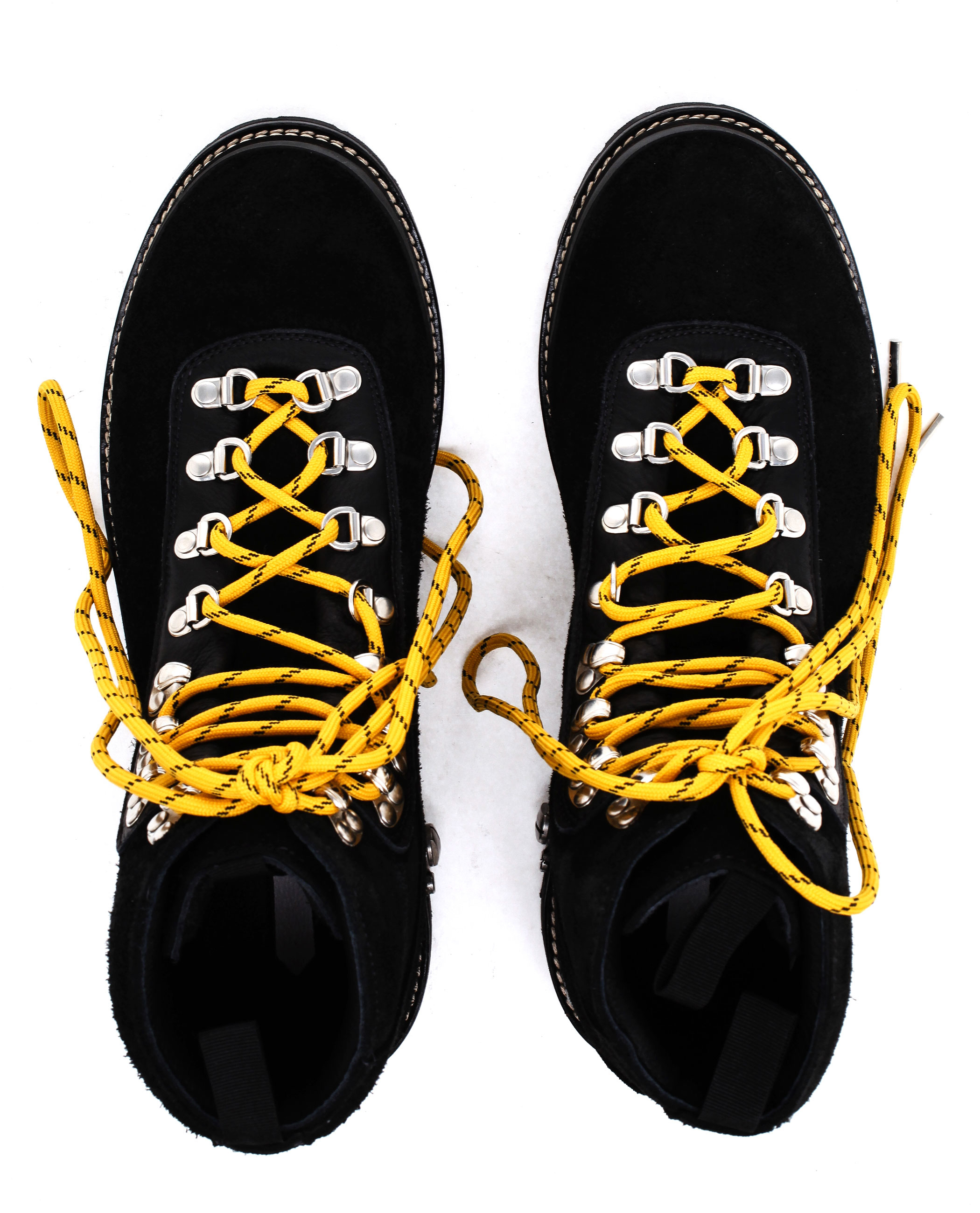 Off,White c/o Virgil Abloh Black Suede Hiking Boots