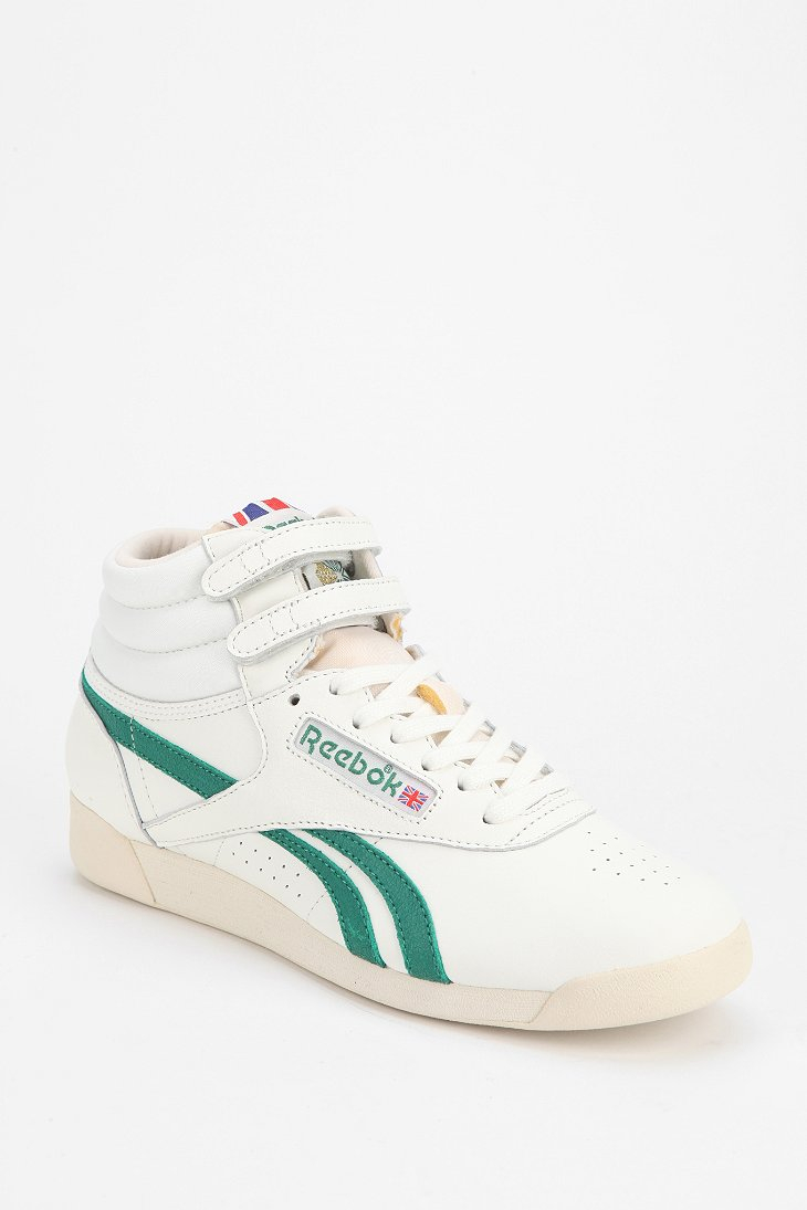 aec371166c9 Lyst - Reebok Freestyle Vintage Hightop Sneaker in Green
