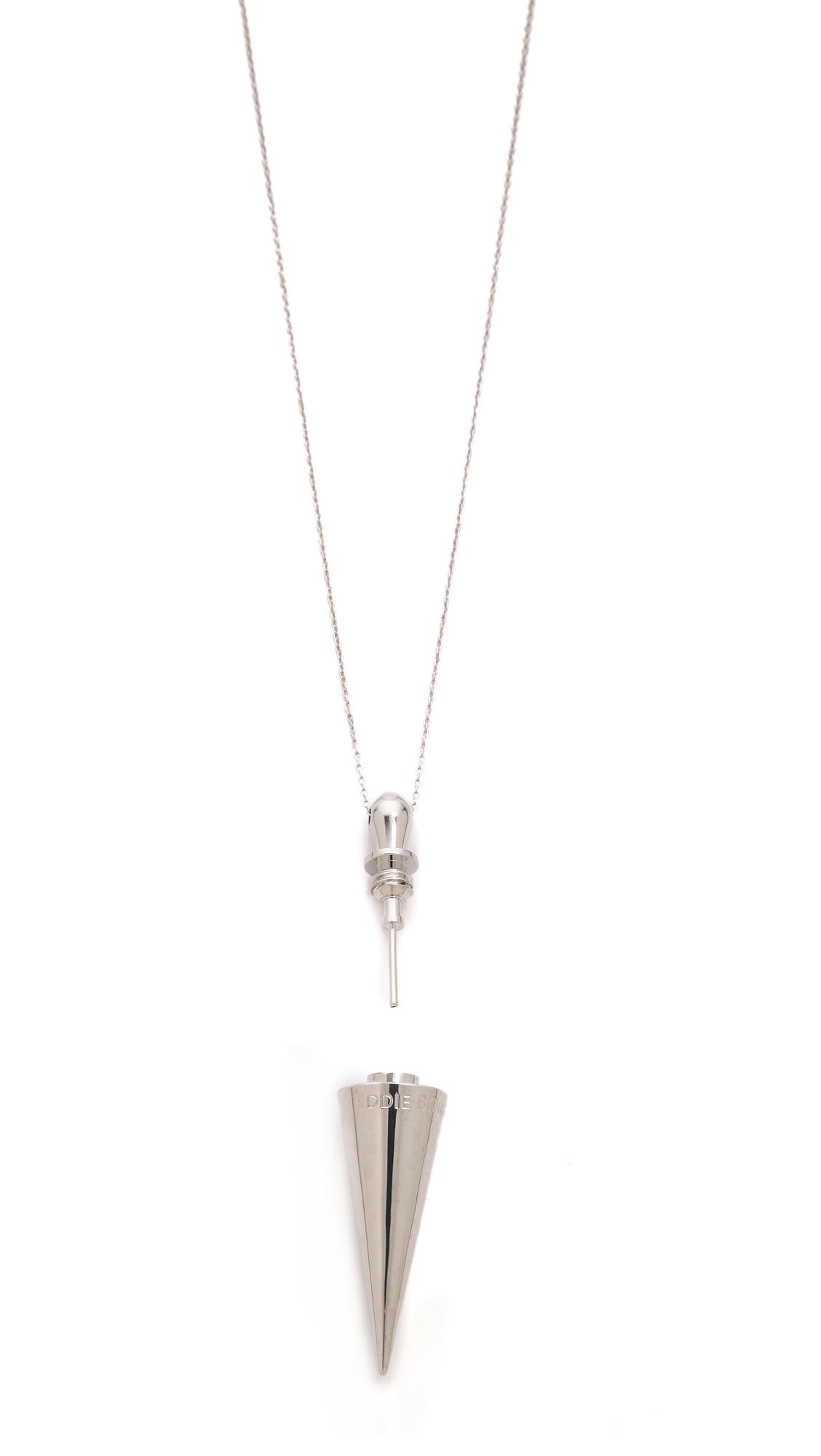 Eddie Borgo Spike Urn Pendant in Silver (Metallic)