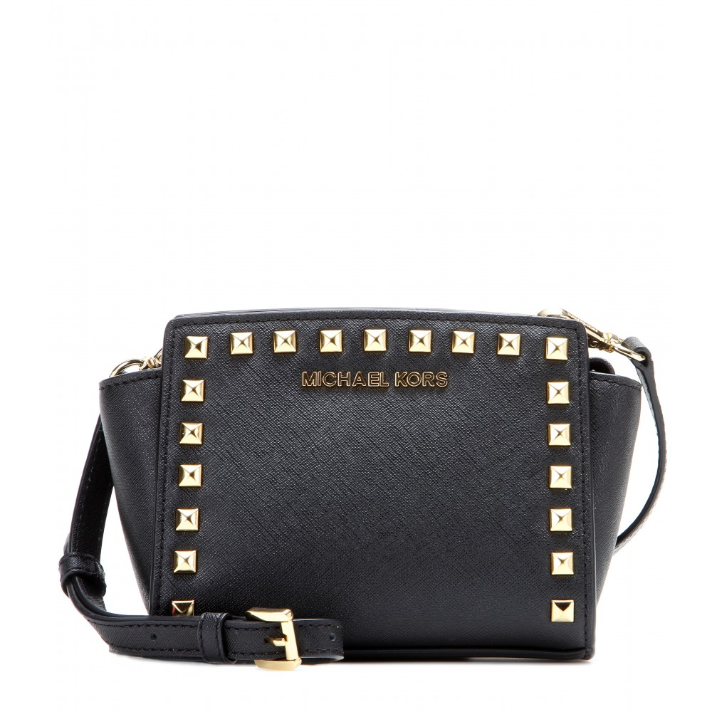 06040b8bc298 ... closeout lyst michael michael kors selma mini messenger studded leather  2167c 25ffa