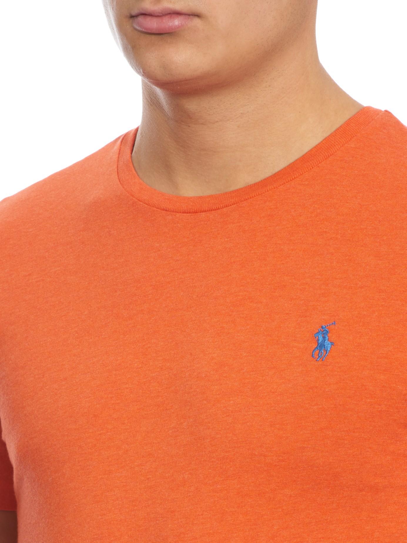 075d68a2c0e Polo Ralph Lauren Crew-neck T-shirt in Orange for Men - Lyst