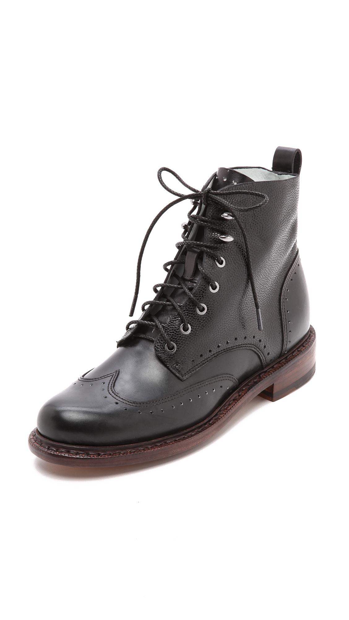rag bone cozen boots black in black lyst