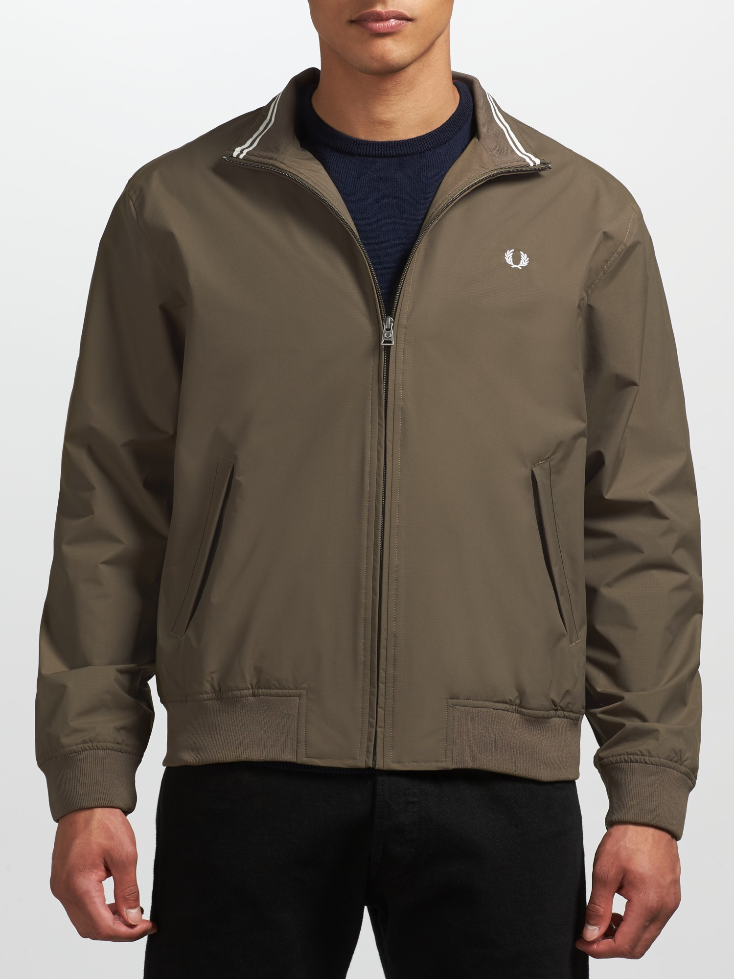 fred perry brentham jacket in brown for men lyst. Black Bedroom Furniture Sets. Home Design Ideas