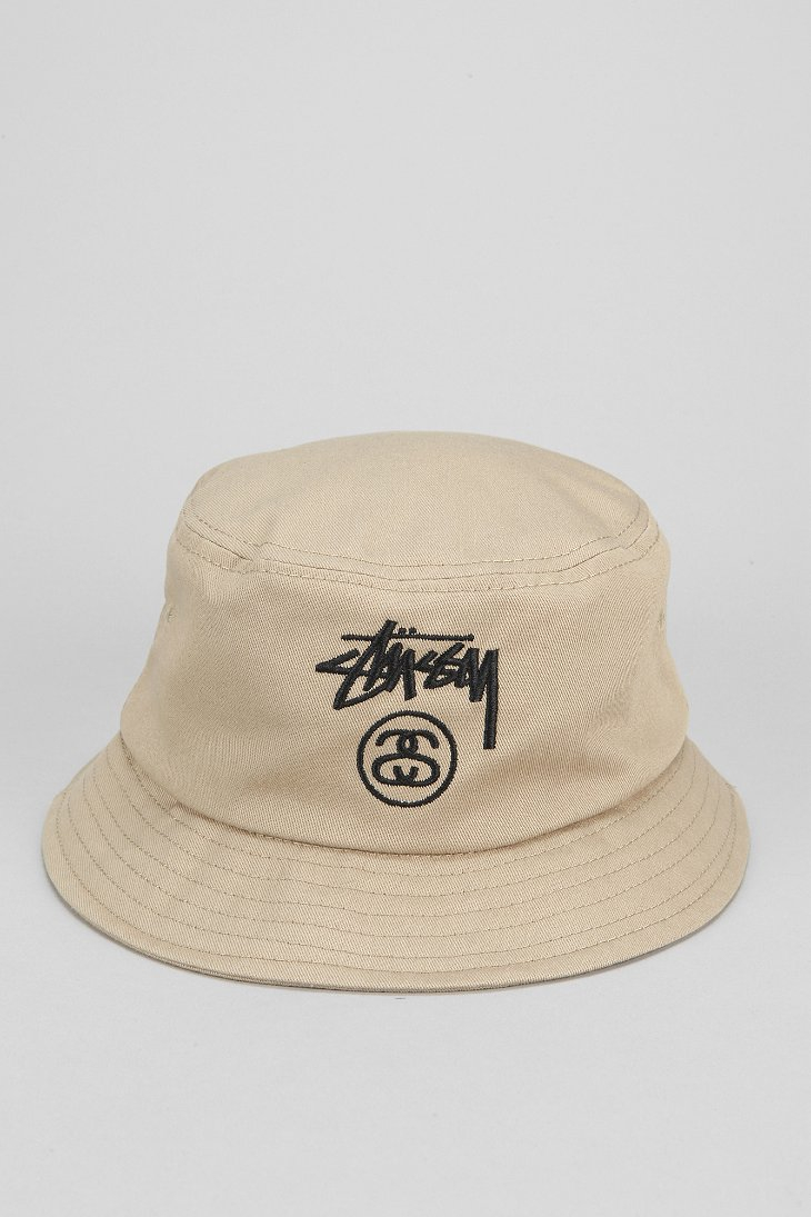 66f52eab4 Stussy Natural Stock Lock Bucket Hat for men