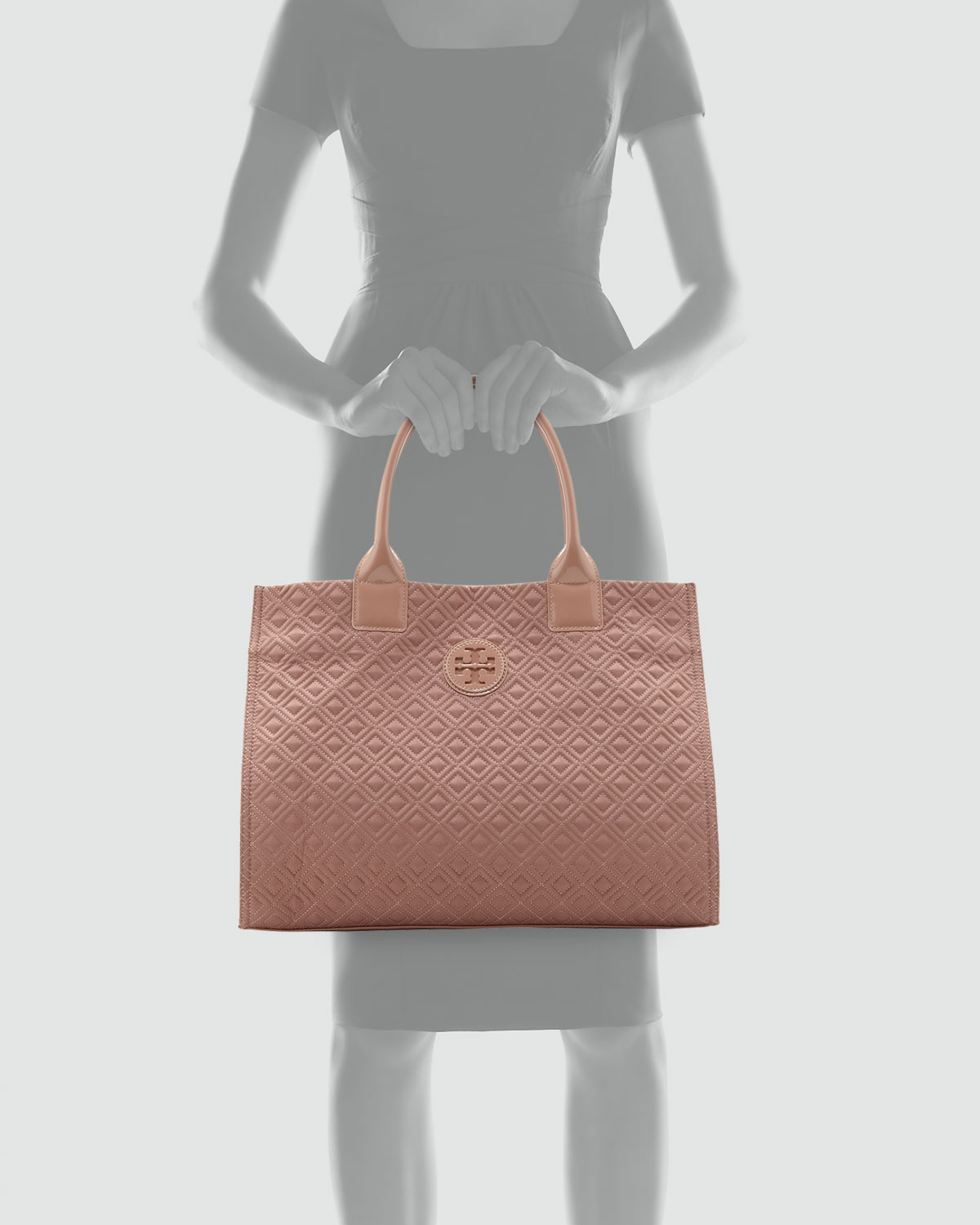 Lyst Tory Burch Ella Quilted Tote Blush In Pink