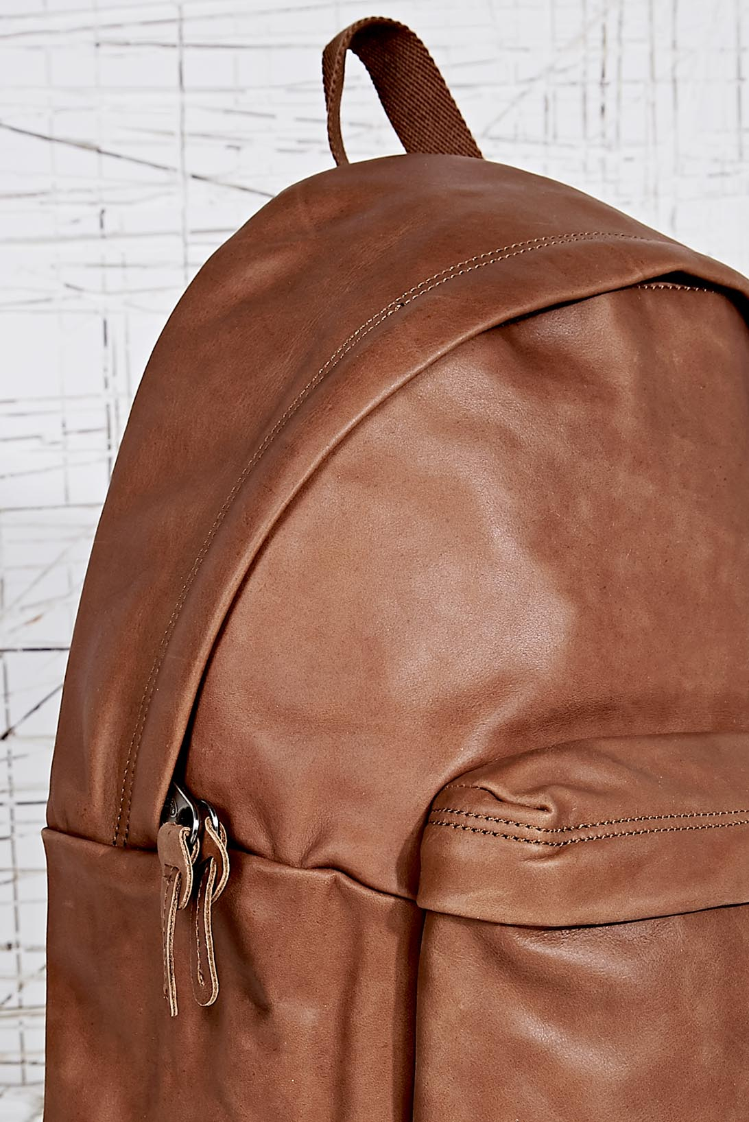 Eastpak Leather Padded Backpack in Tan in Brown for Men | Lyst