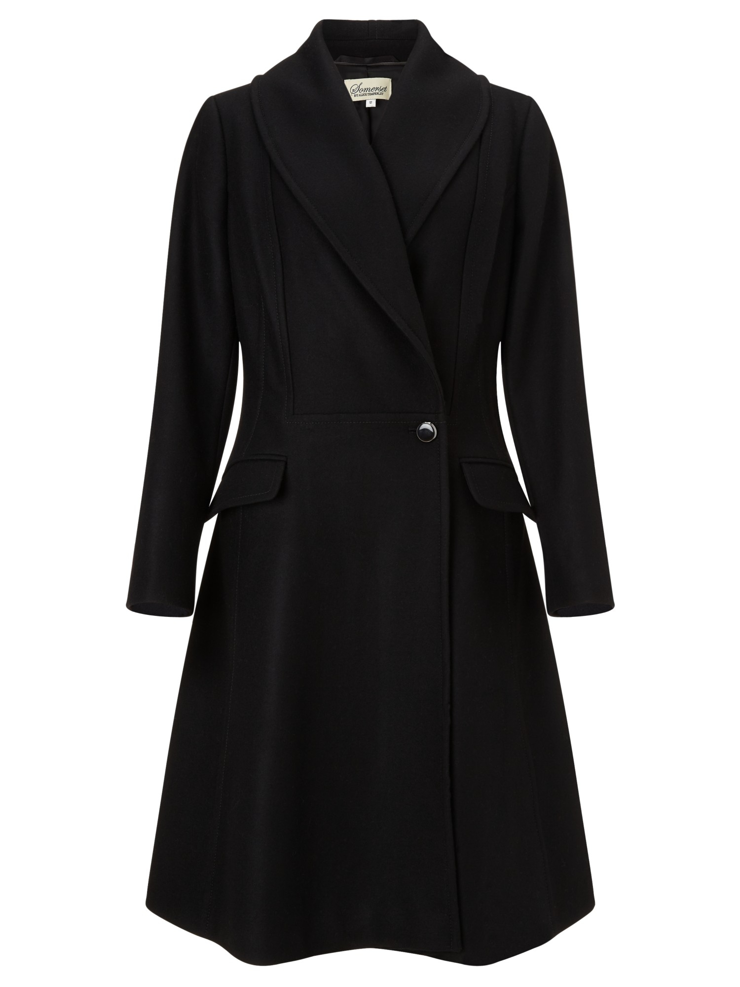Somerset By Alice Temperley Wool Fit And Flare Coat In