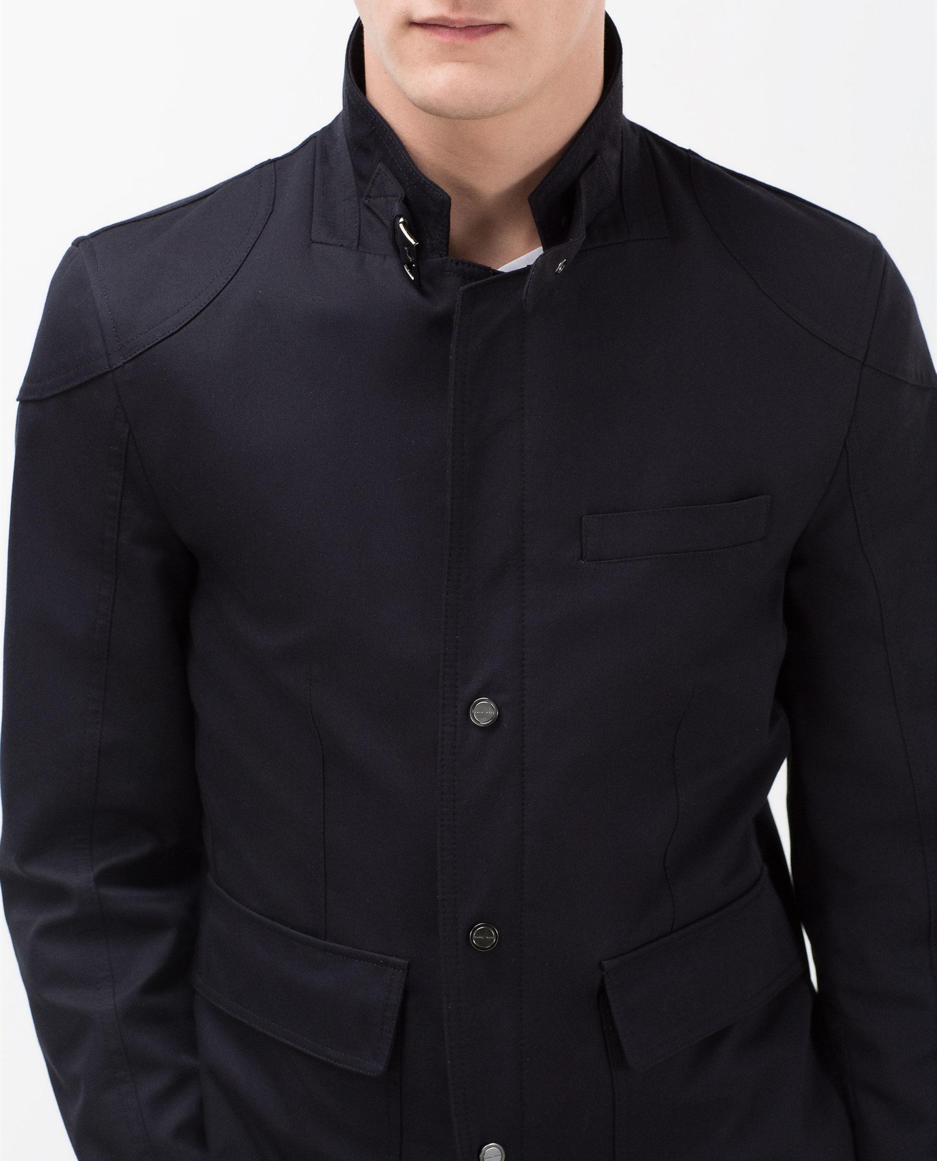 zara blazer with shoulder detail in black for men lyst. Black Bedroom Furniture Sets. Home Design Ideas