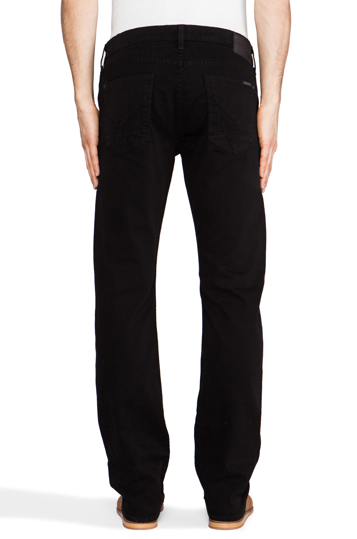 e7c55a7d637 Hudson Jeans Byron Straight in Jet Black in Black for Men - Lyst