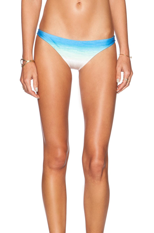 Lyst Wildfox Secret Beach Brazilian Bikini Bottom In Blue