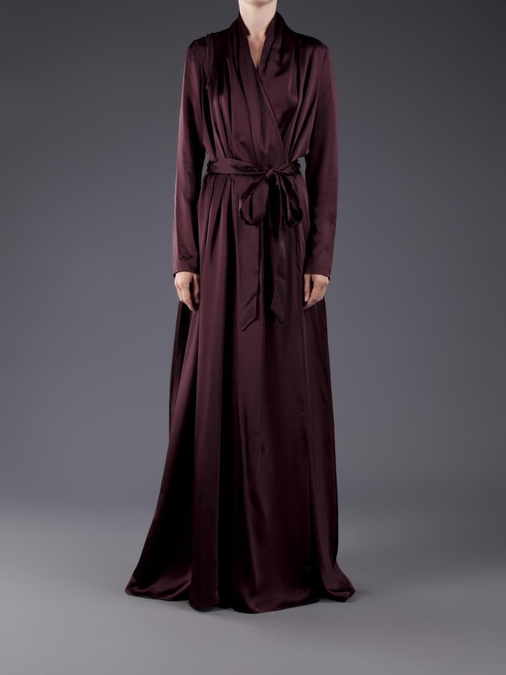 Hussein Chalayan Long Wrap Dress In Purple Lyst