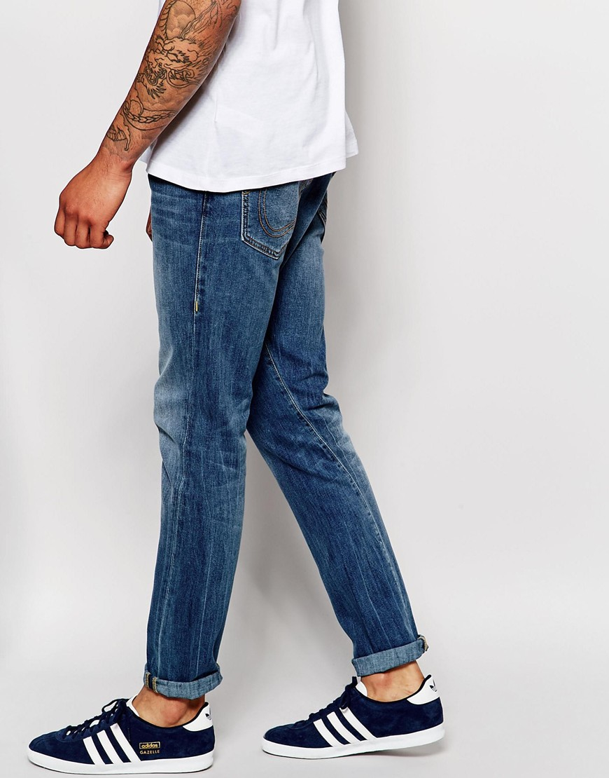 True religion Jeans Mick Slouch Tapered Fit Light Vintage Wash in ...