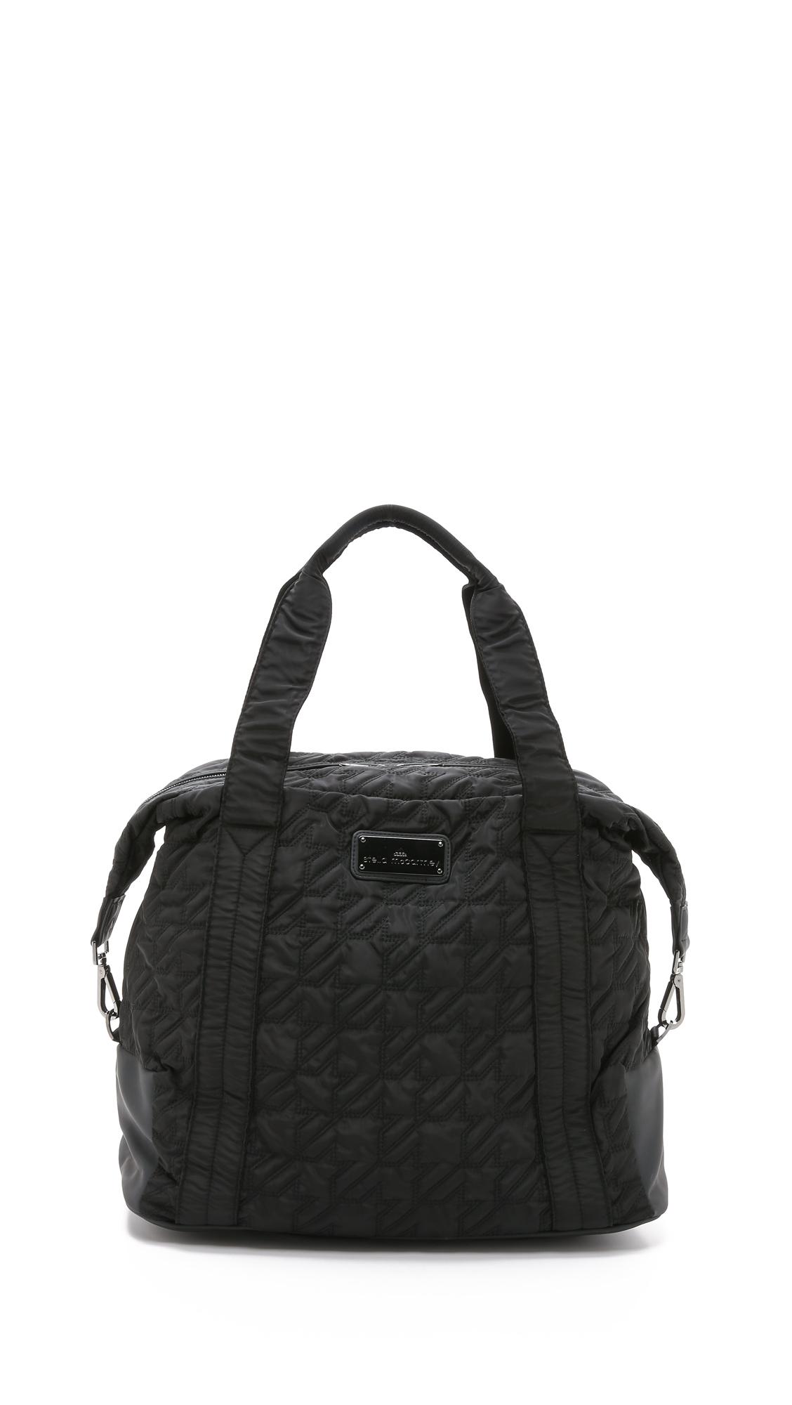 Lyst - adidas By Stella McCartney Big Duffel Bag - Black in Black bb5cea9888