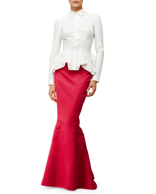 Wedding Mermaid Skirt zac posen high waist mermaid skirt in purple lyst gallery