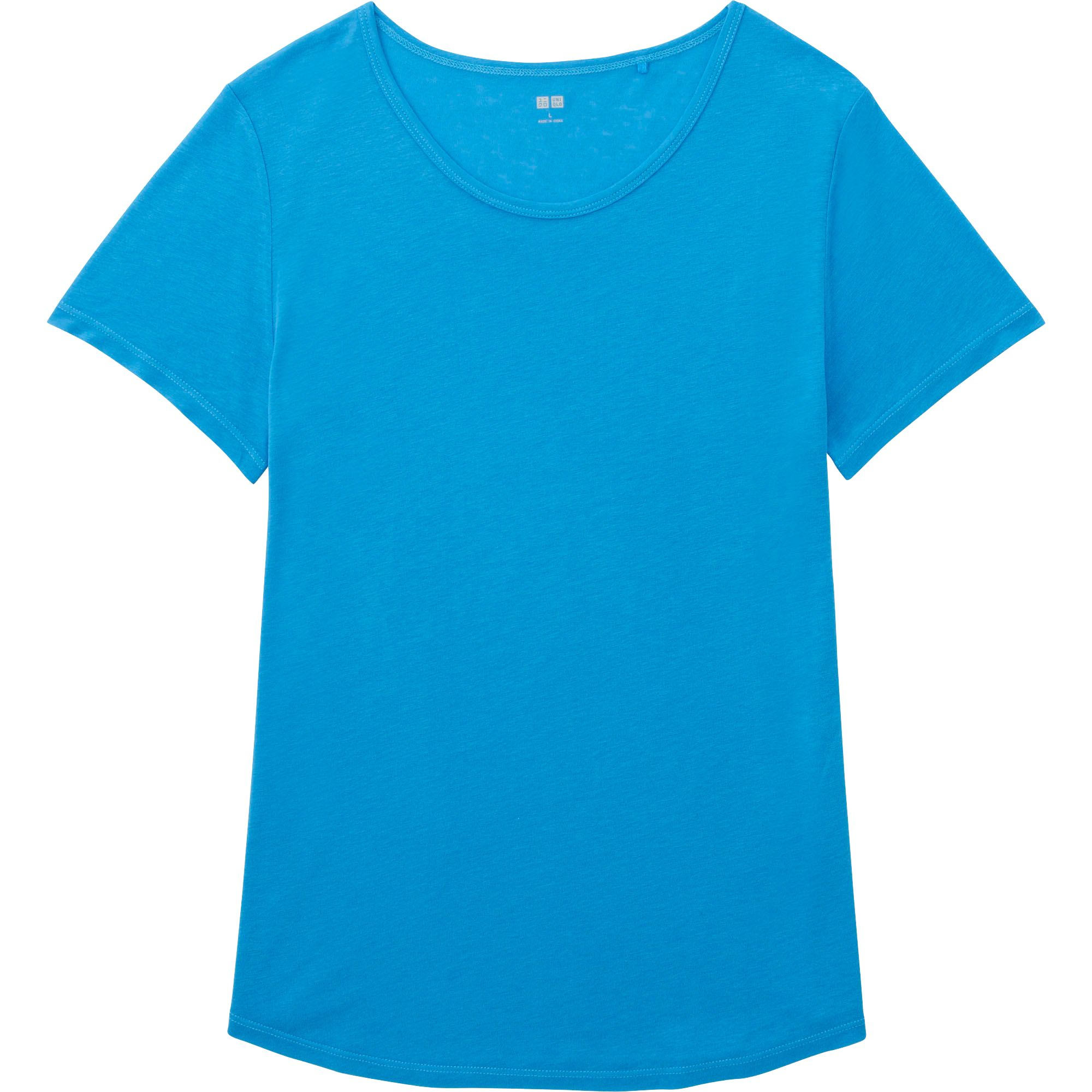 Uniqlo Women 39 S Modal Linen T Shirt In Blue For Men Save