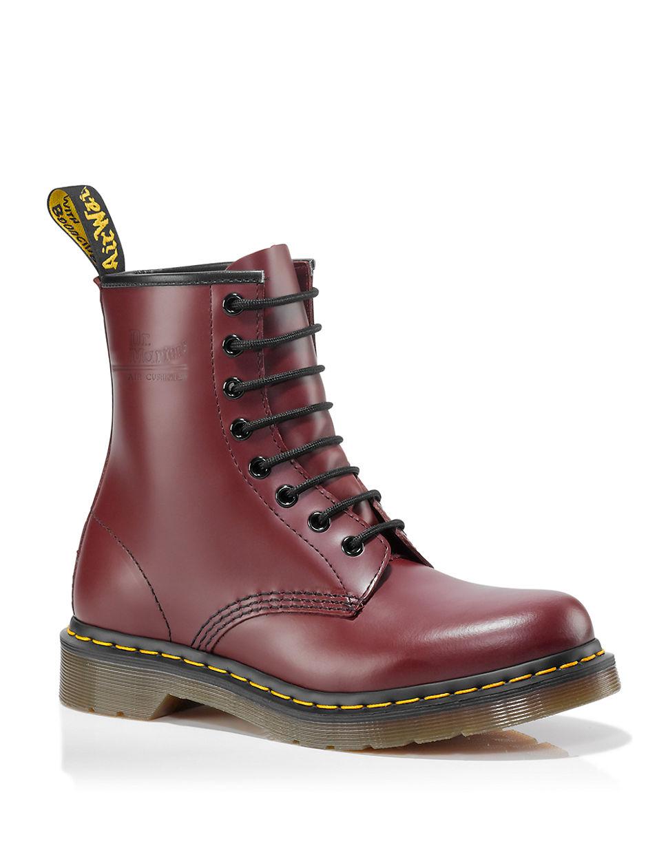 dr martens original 8 eye boots in red lyst. Black Bedroom Furniture Sets. Home Design Ideas