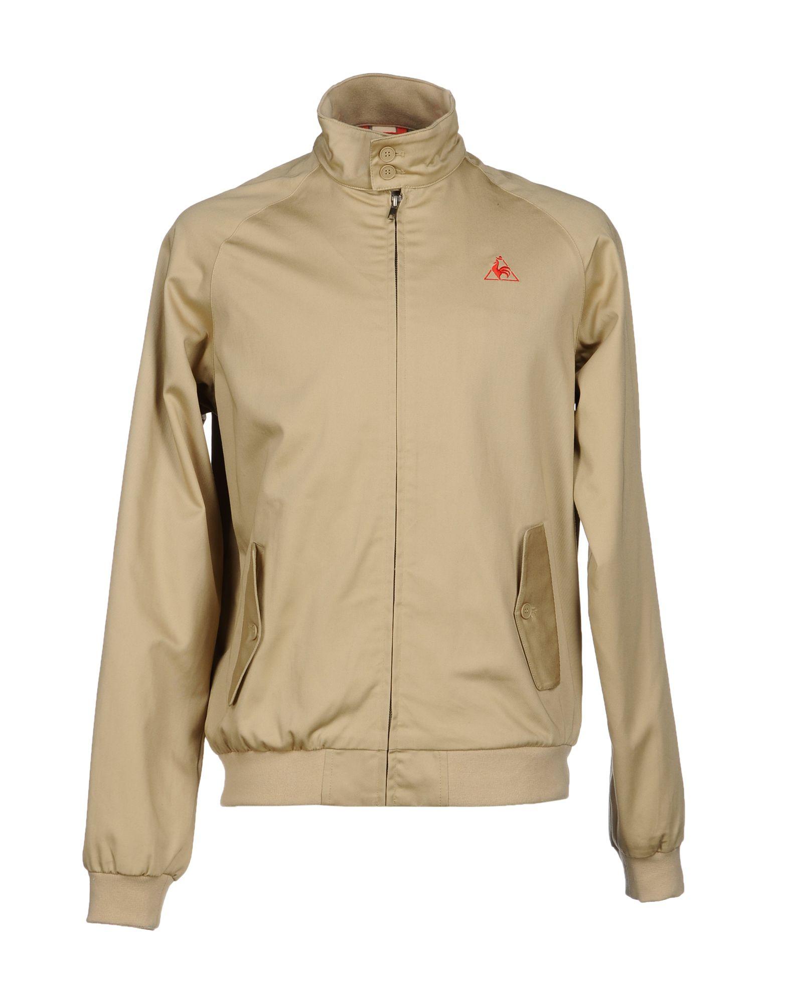 le coq sportif jacket in beige for men sand lyst. Black Bedroom Furniture Sets. Home Design Ideas