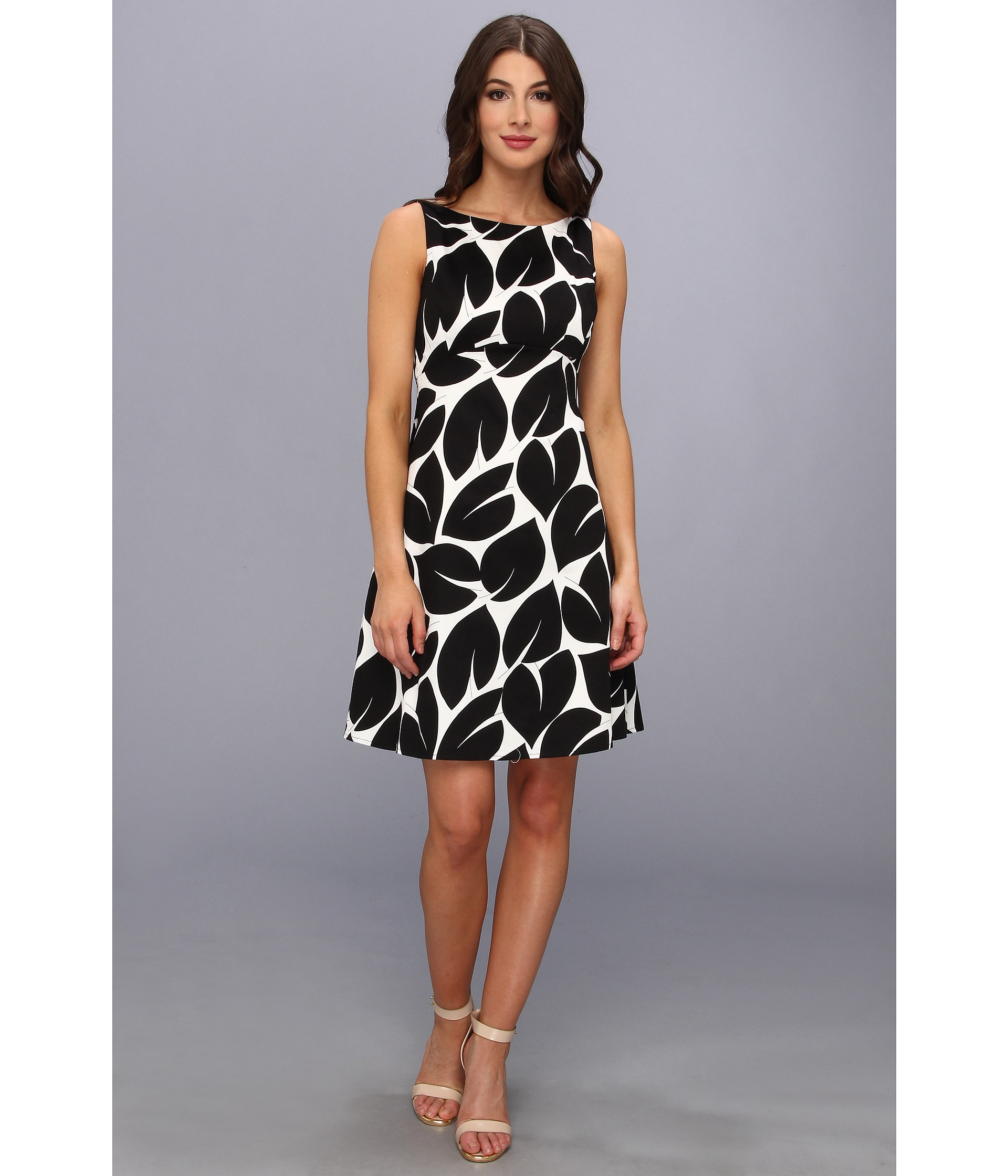 Lyst Maggy London Leaf Printed Cotton Sateen Fit And